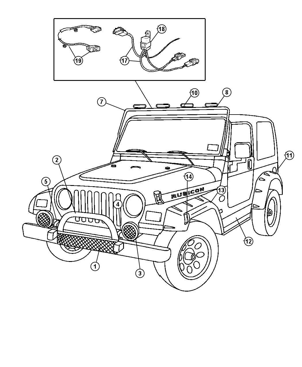 Jeep Wrangler Cover Kit Light Black Cover For Tomb