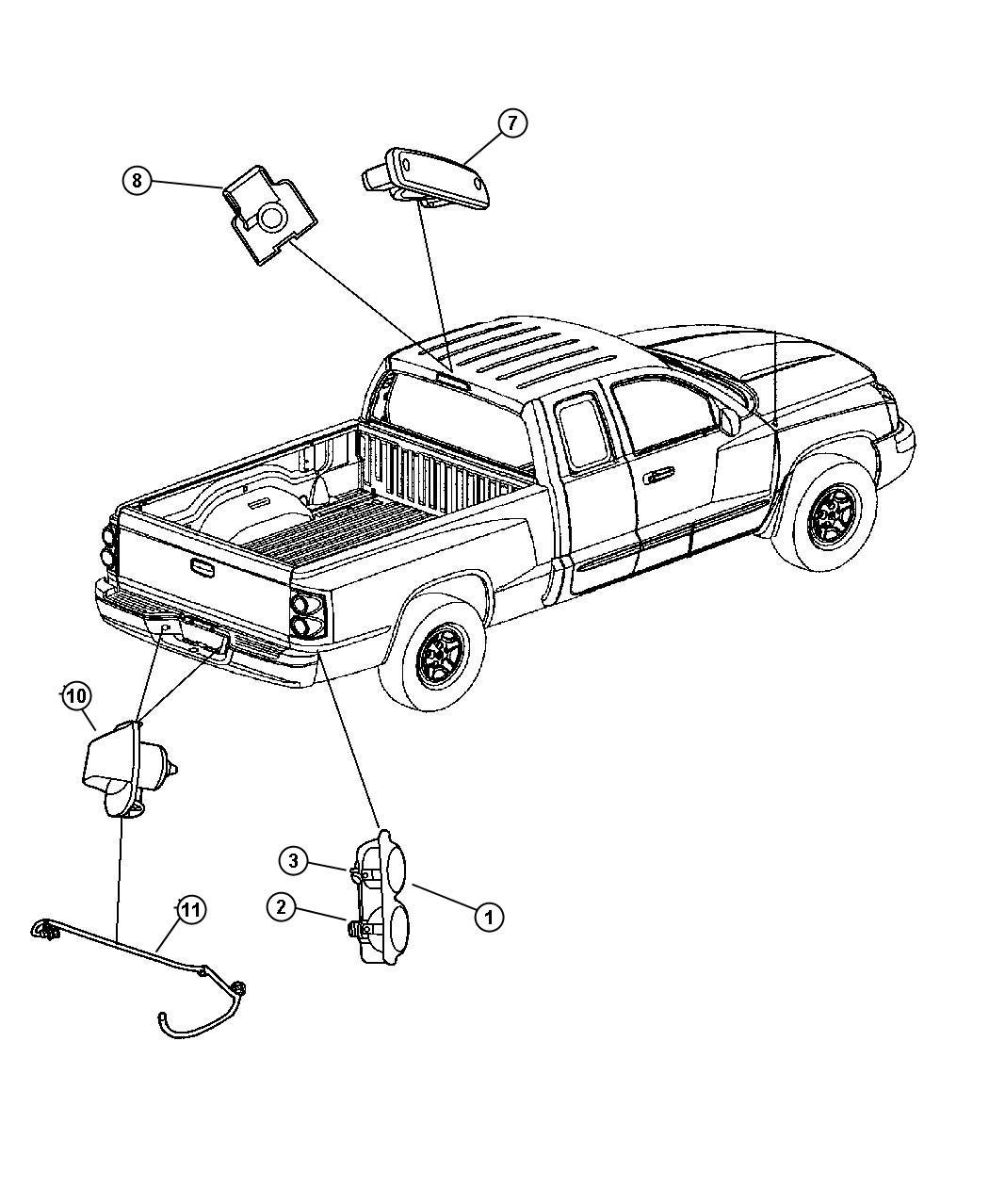 Jeep Wrangler Seal Socket Back Up Lamp Export