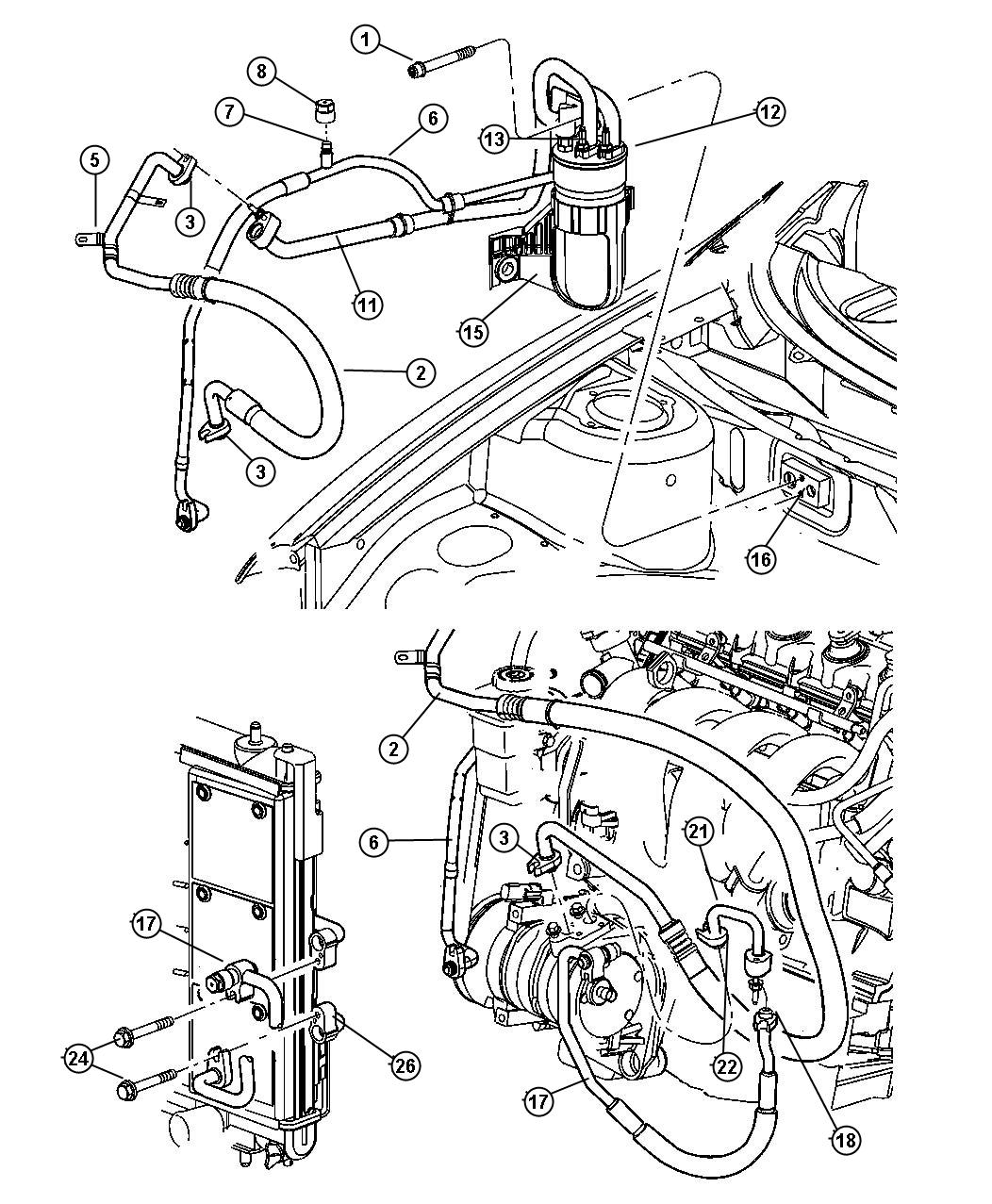 Dodge Nitro Condenser Air Conditioning Mopar