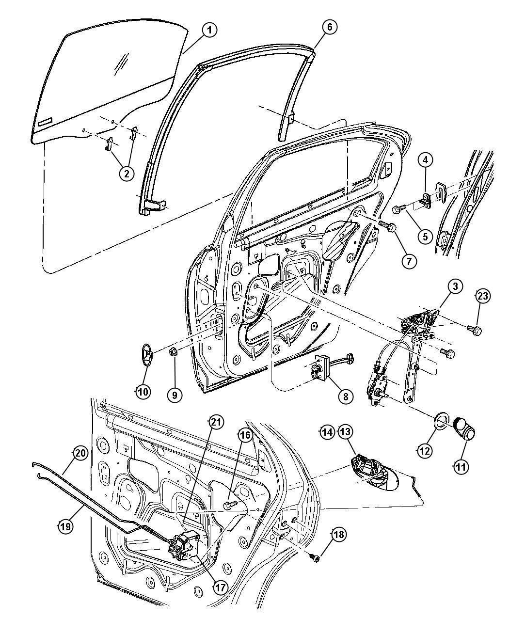 Dodge Neon Latch Rear Door Manual