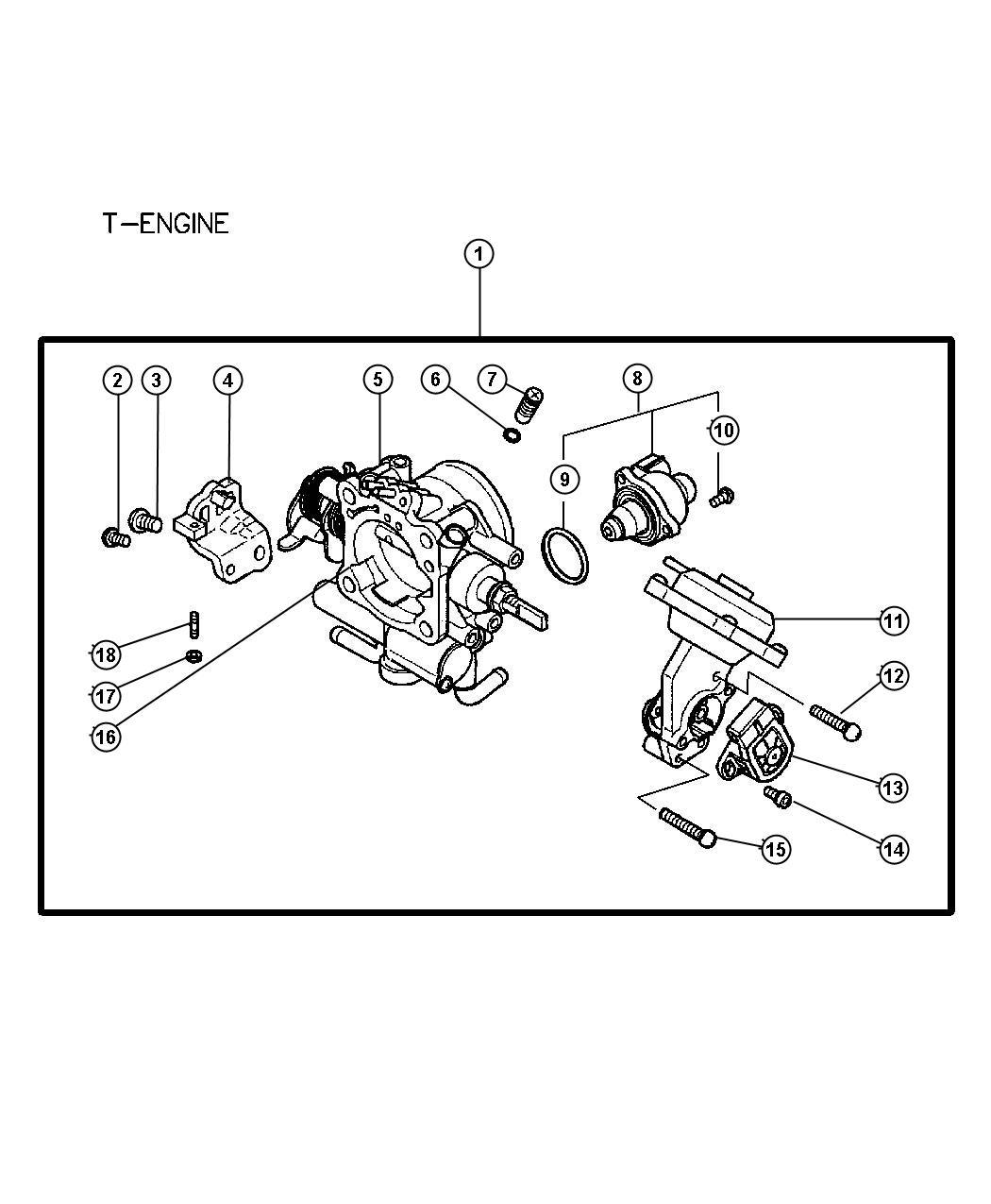 Dodge Stratus Sensor Throttle Position Mmc Body