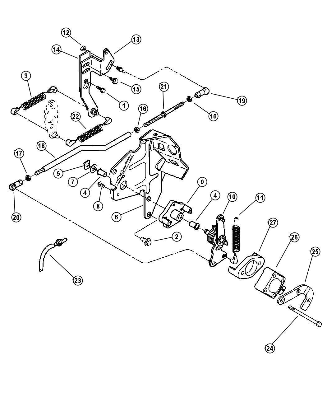 Dodge Ram Cable Throttle Valve Controls Body