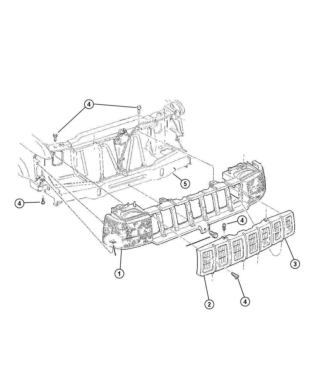 Dodge Ram Grille Radiator S4 Mfn Body
