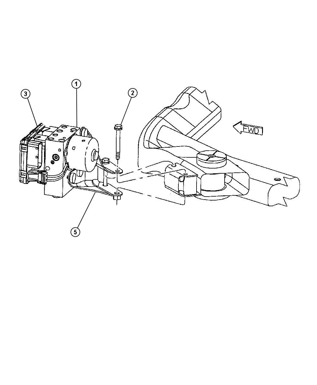 chrysler concorde screw 6 lobed mounting