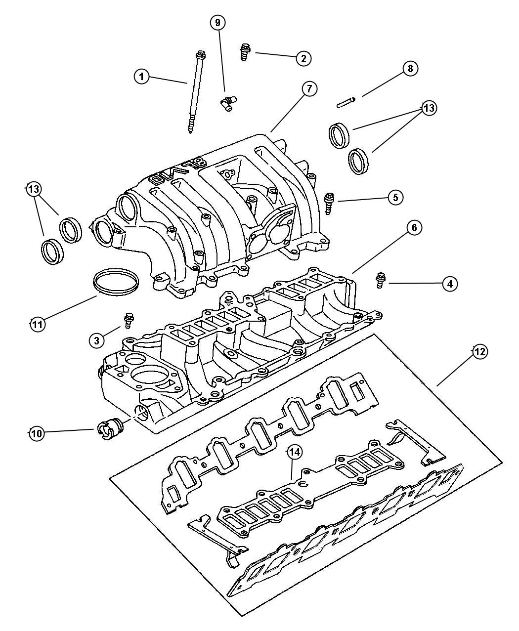 Dodge Ram Seal Thermostat Thermostat 8 0l Engine