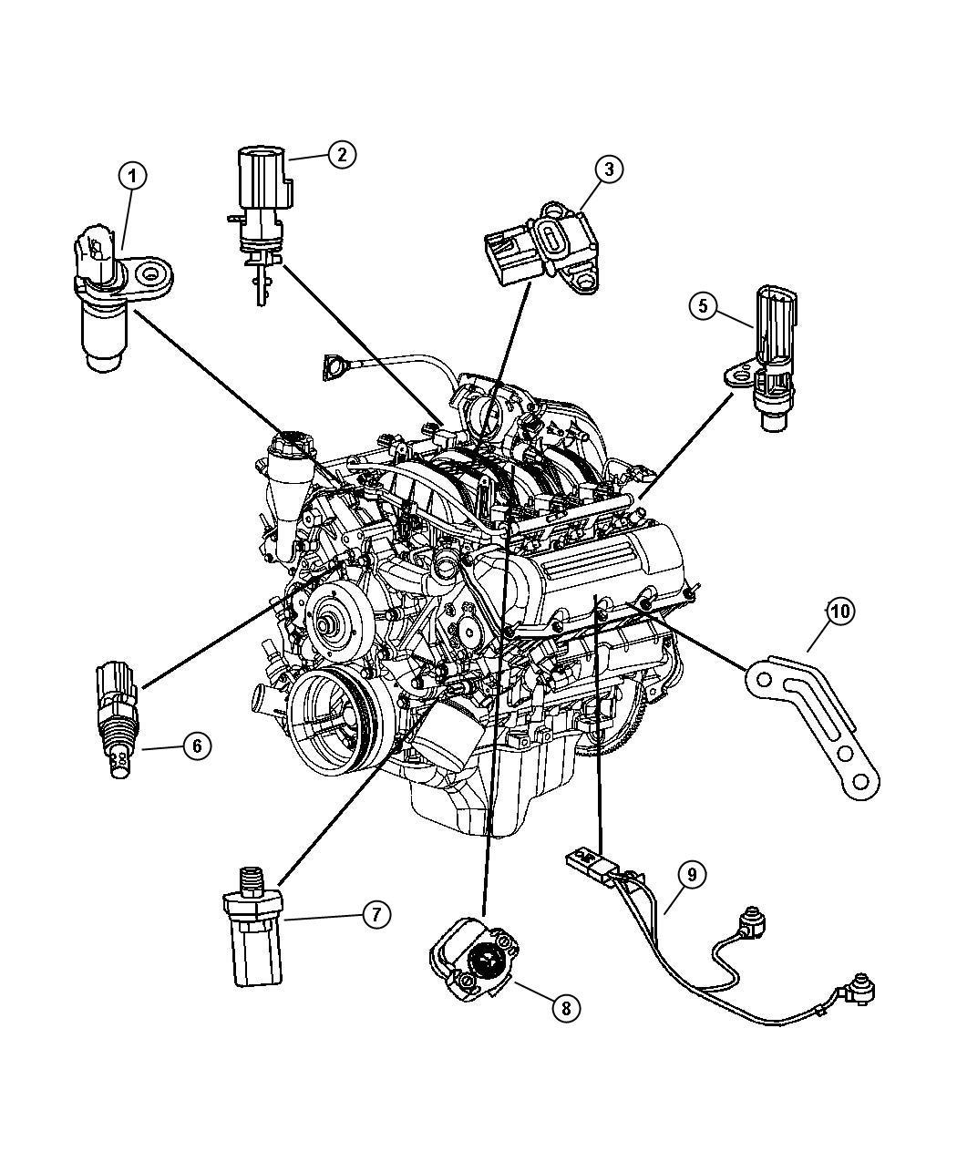 Dodge Durango Sensor Camshaft Engine Sensors Case