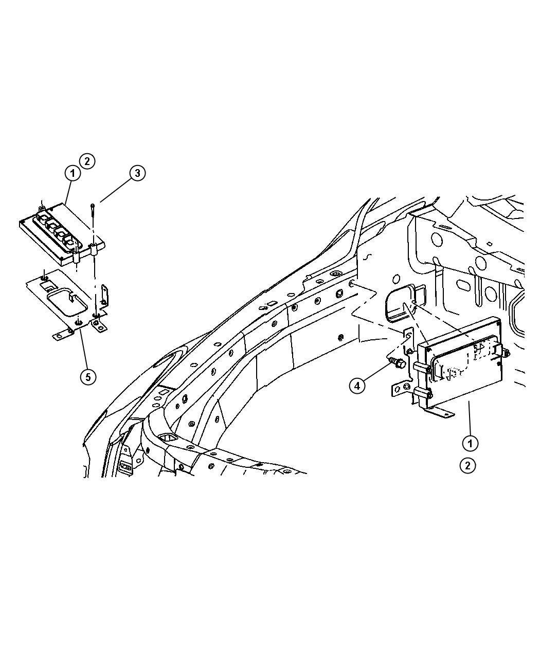 Dodge Durango Module Powertrain Control Generic