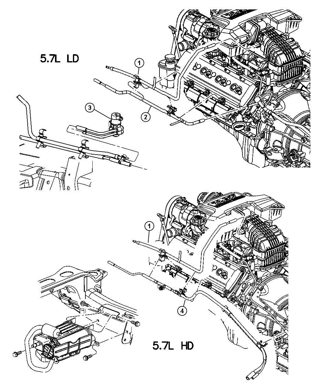 Dodge Ram Harness Vapor Purge Emission
