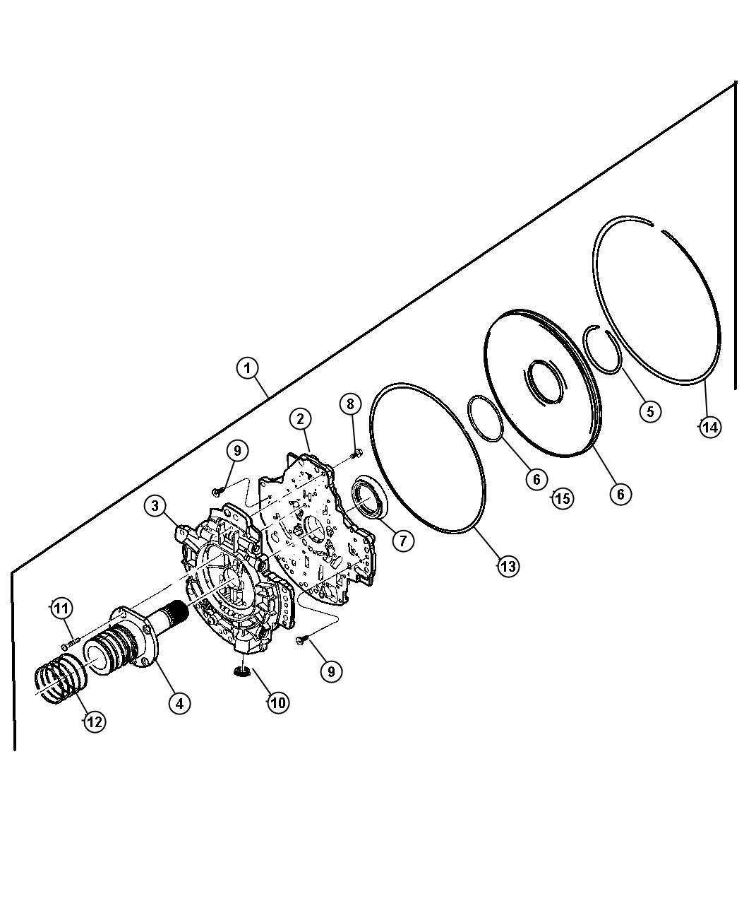 Dodge Ram Seal Transmission Oil Pump