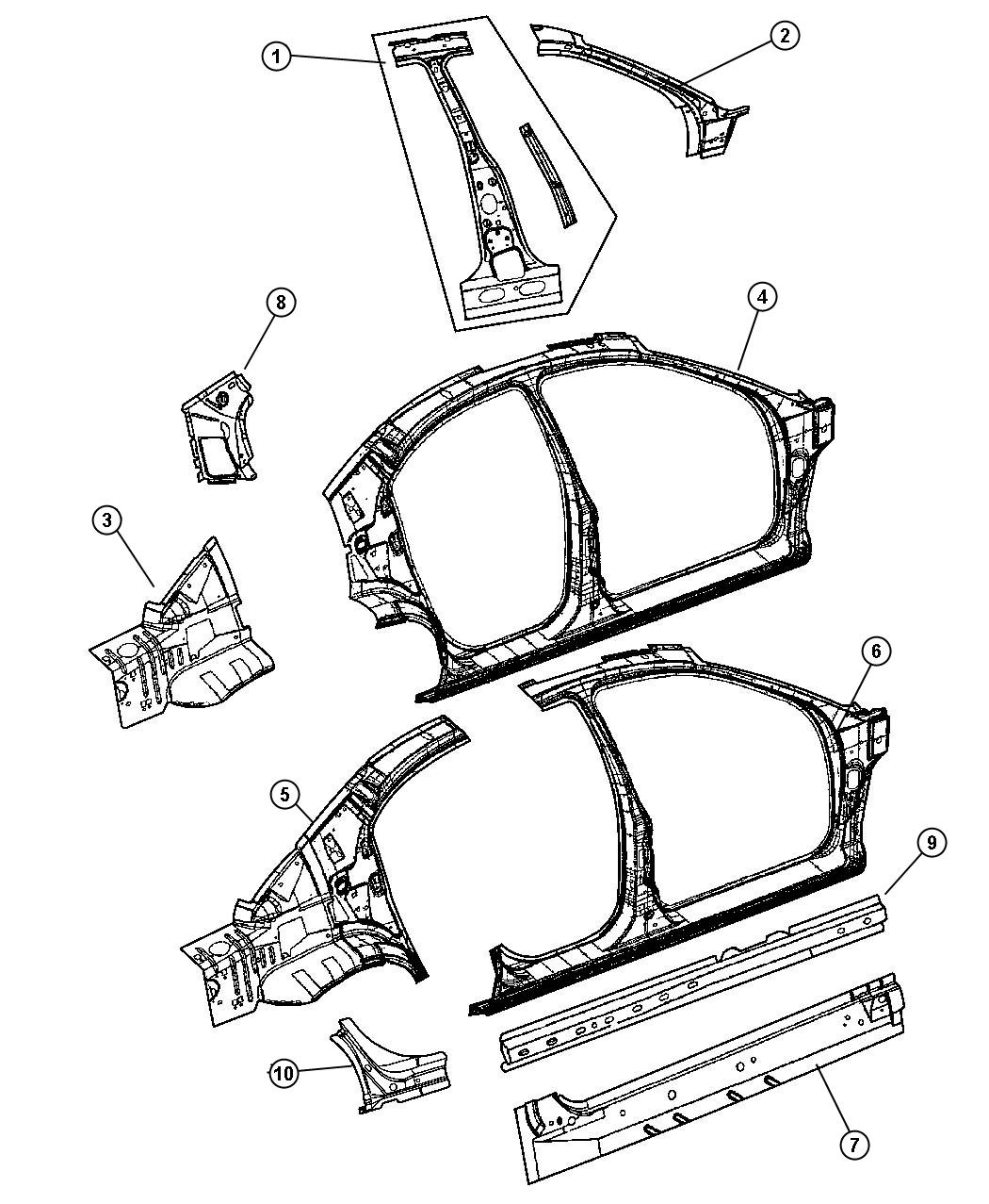 Dodge Stratus Rocker Panel