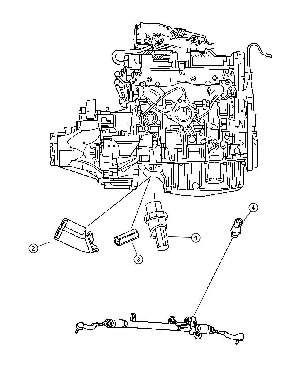 Dodge Challenger Shield Wiring Oil Pressure Switch
