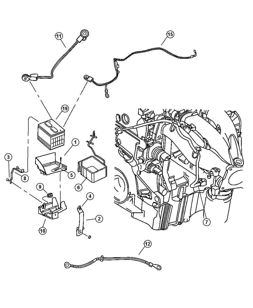 Dodge Stratus Nut M10x1 50 Battery Ground Negative
