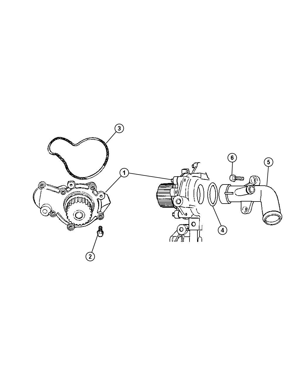 Jeep Liberty Tube Water Pump Inlet Transmission