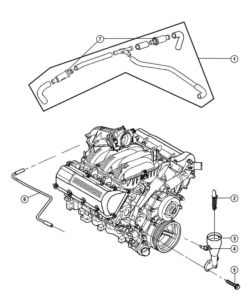 Dodge Dakota Tube Crankcase Vent To Intake Manifold