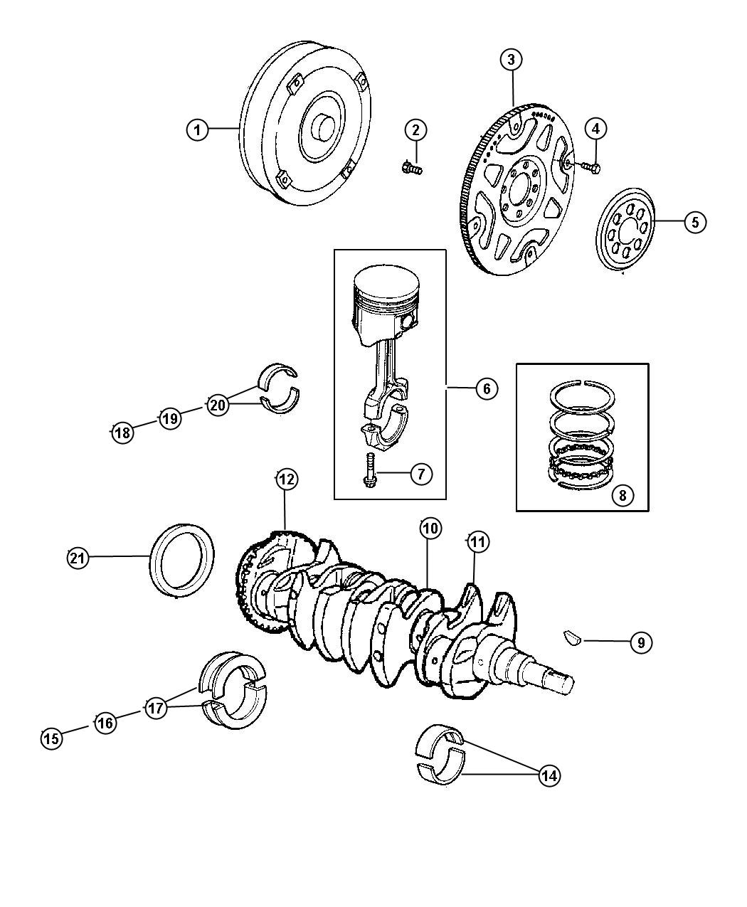 Dodge Dakota Brg Kit Crankshaft Thrust Engines