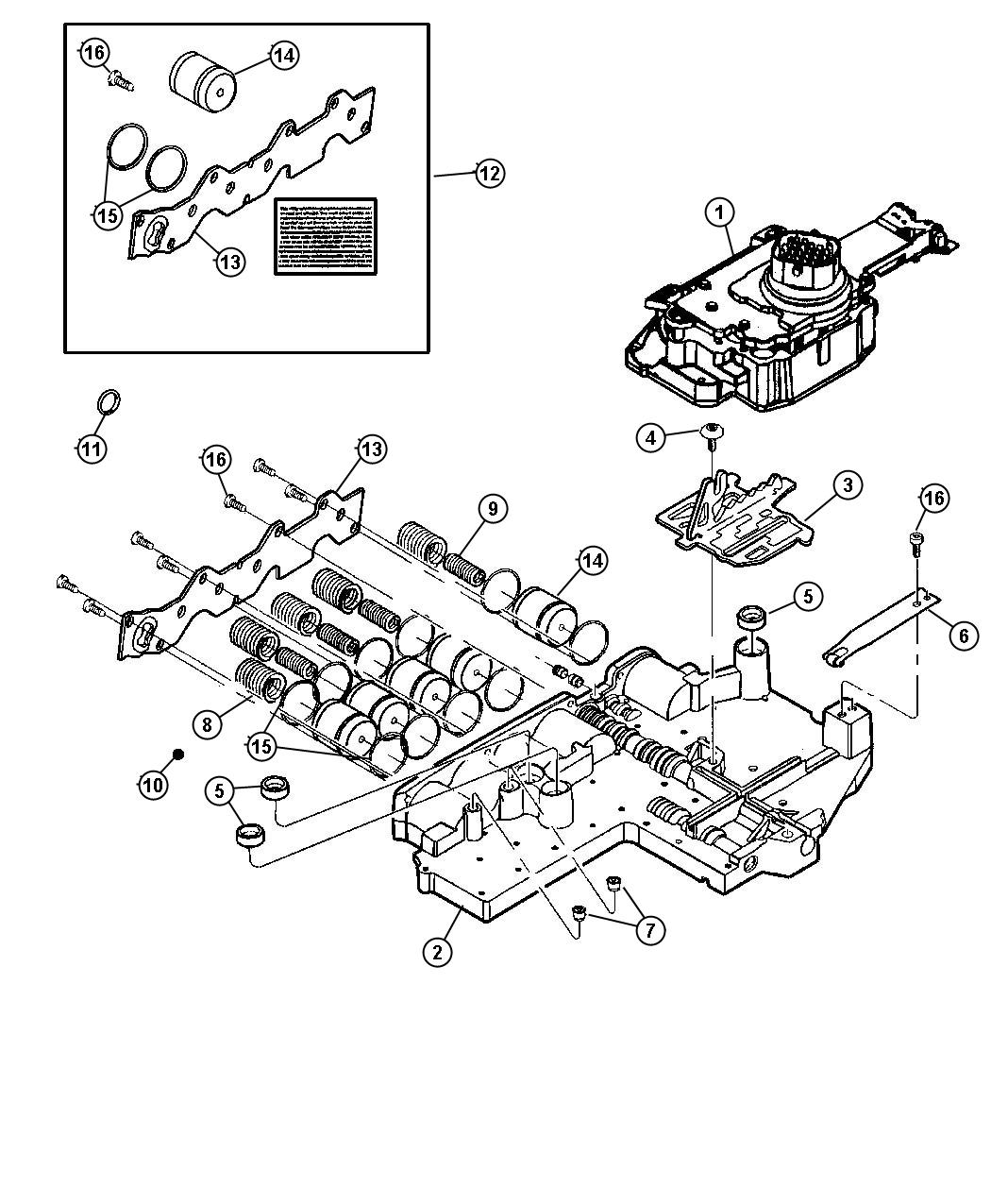 Dodge Durango Plate Manual Valve Cam