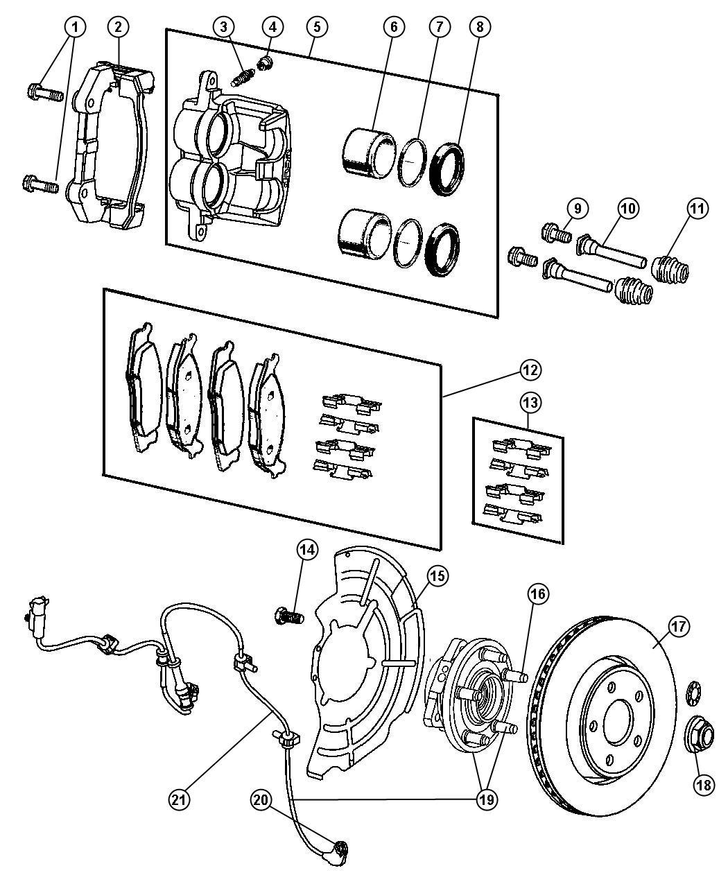 Jeep Grand Cherokee Used For Hub And Bearing Brake