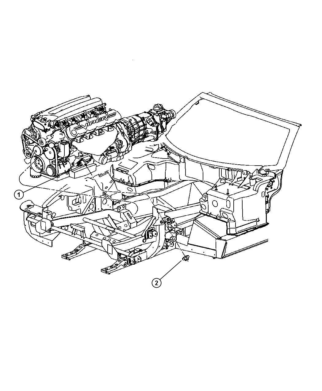 Dodge Viper Insulator Engine Mount Right Right Side