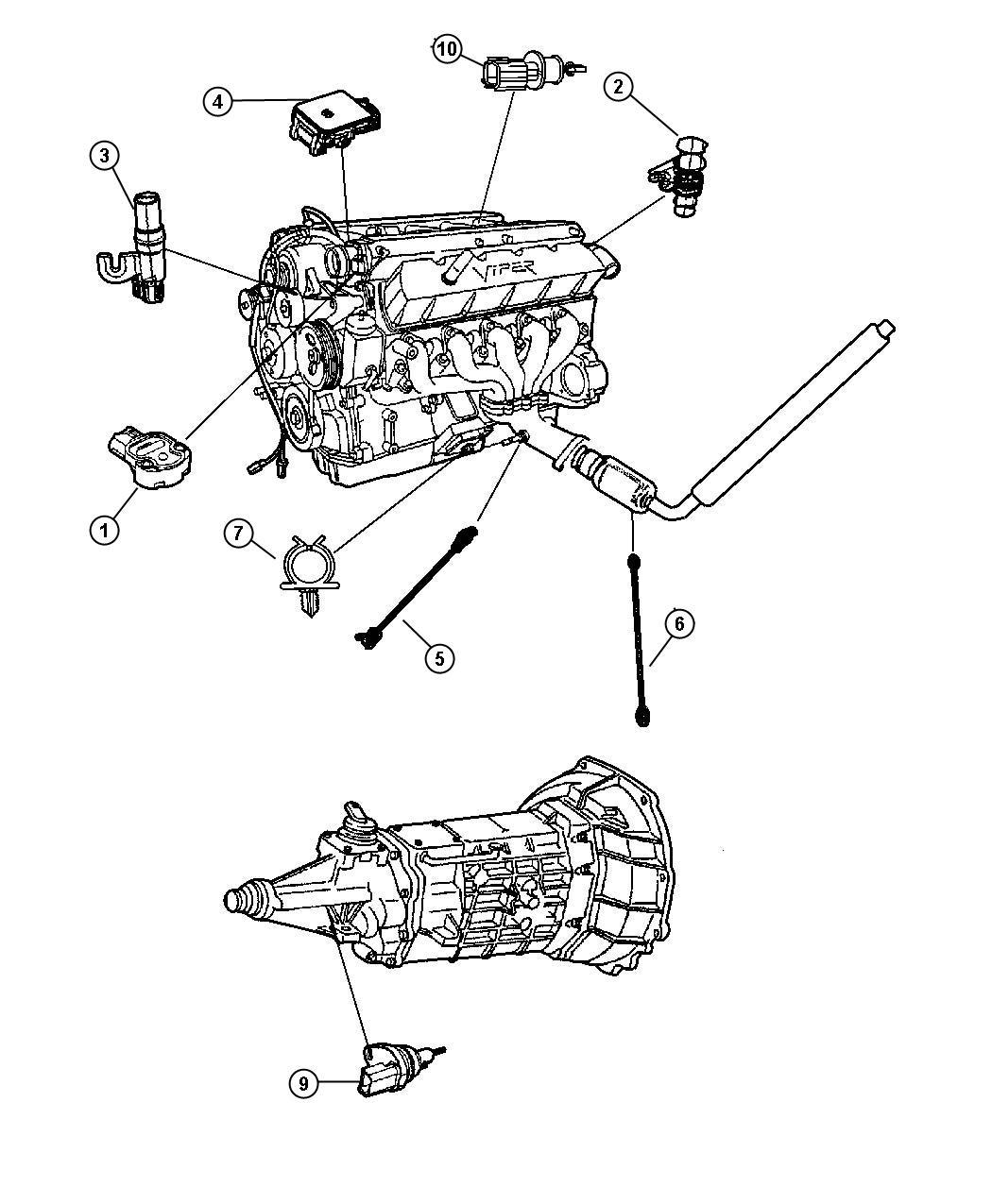 Dodge Neon Sensor Map Emissions Sensors Engine