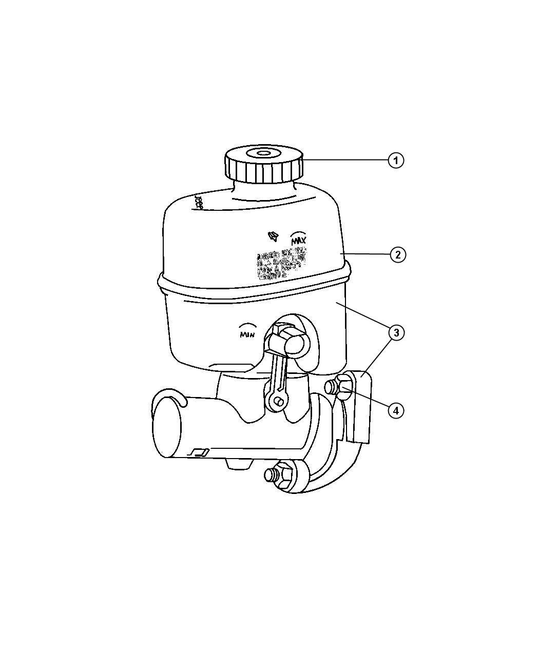 Dodge Ram Master Cylinder Brake With Reservoir