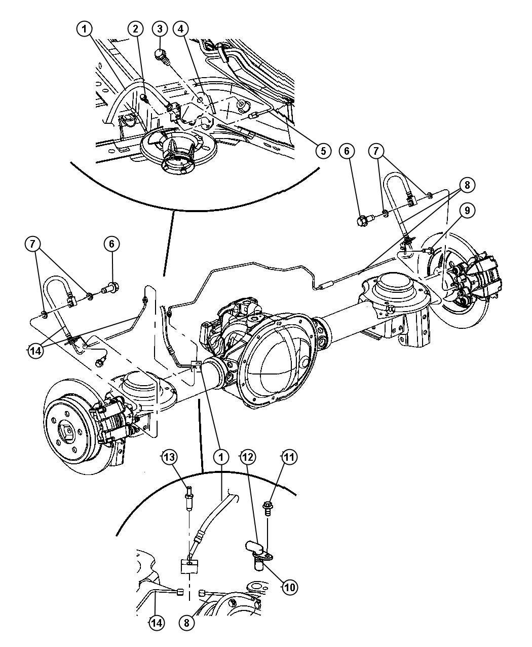 Jeep Liberty Line Brake Wheel Brakes Discbrakes