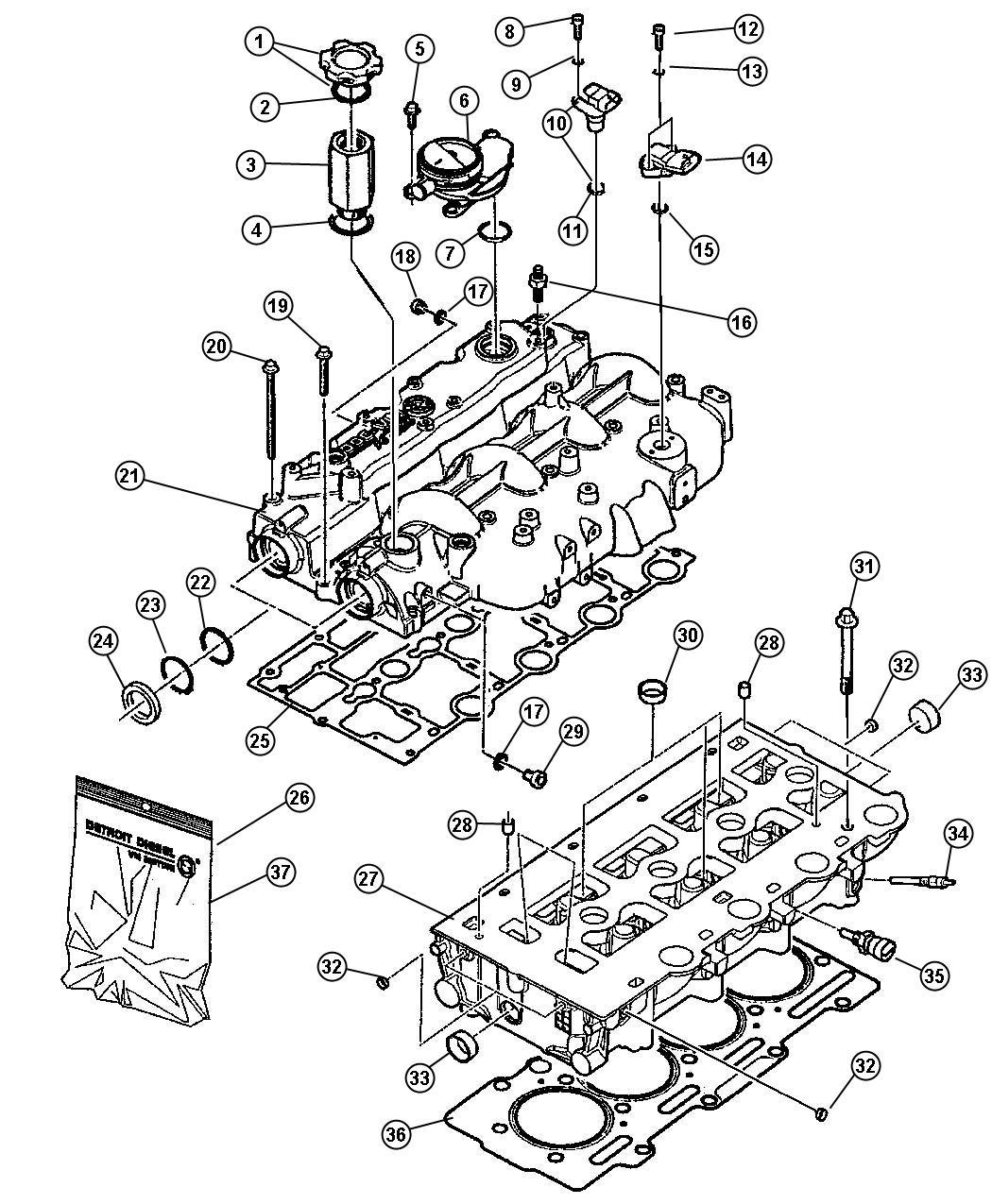 Jeep Wrangler Gasket Kit Headsel Turbo Engine