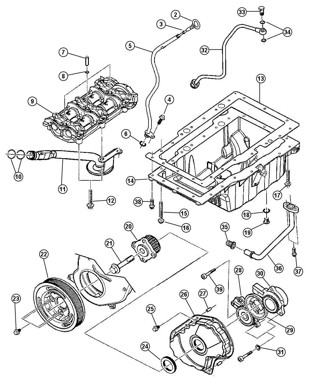 Jeep Liberty Pulley Crankshaft Enginesel Enr