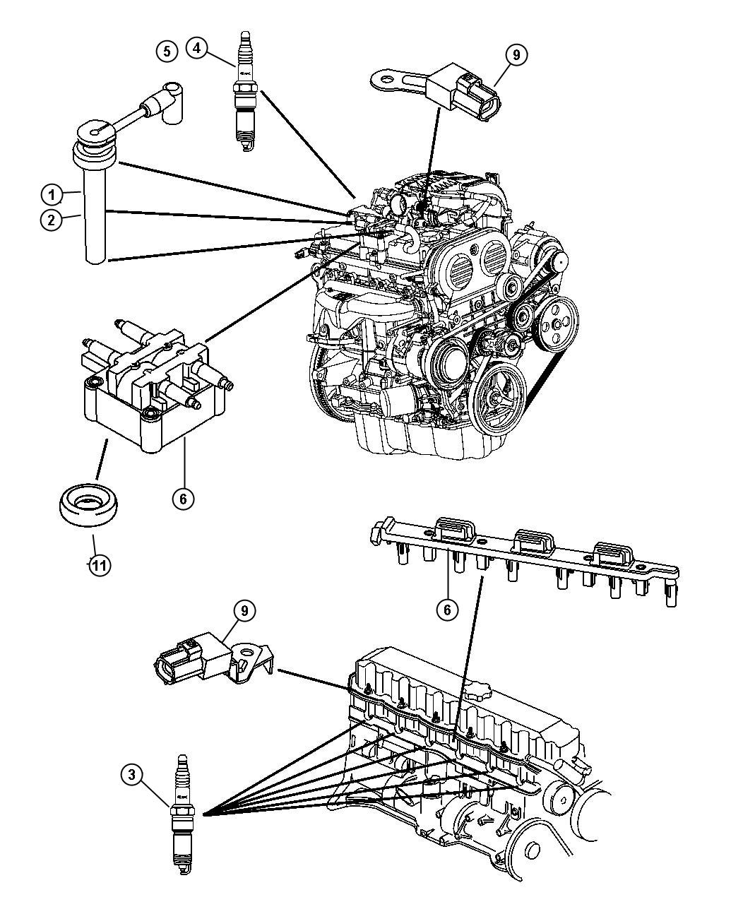 Jeep Liberty Cable Package Ignition 1 4 2 3