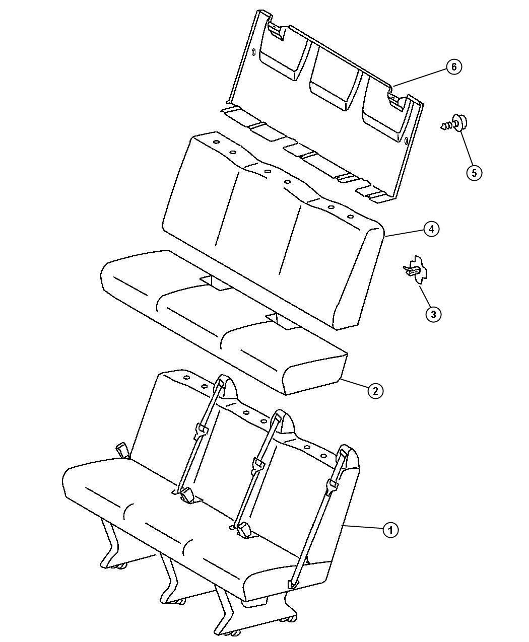 Dodge Sprinter Panel Seat Back Two Passenger Rear Hood Bench
