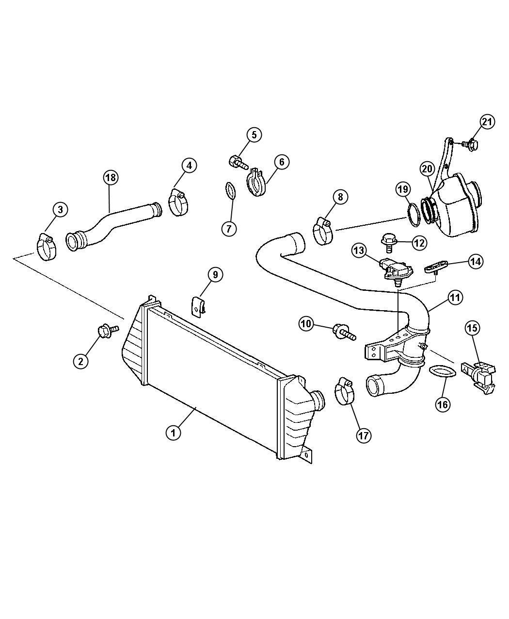Chrysler Pt Cruiser Sending Unit Sensor Charge Air