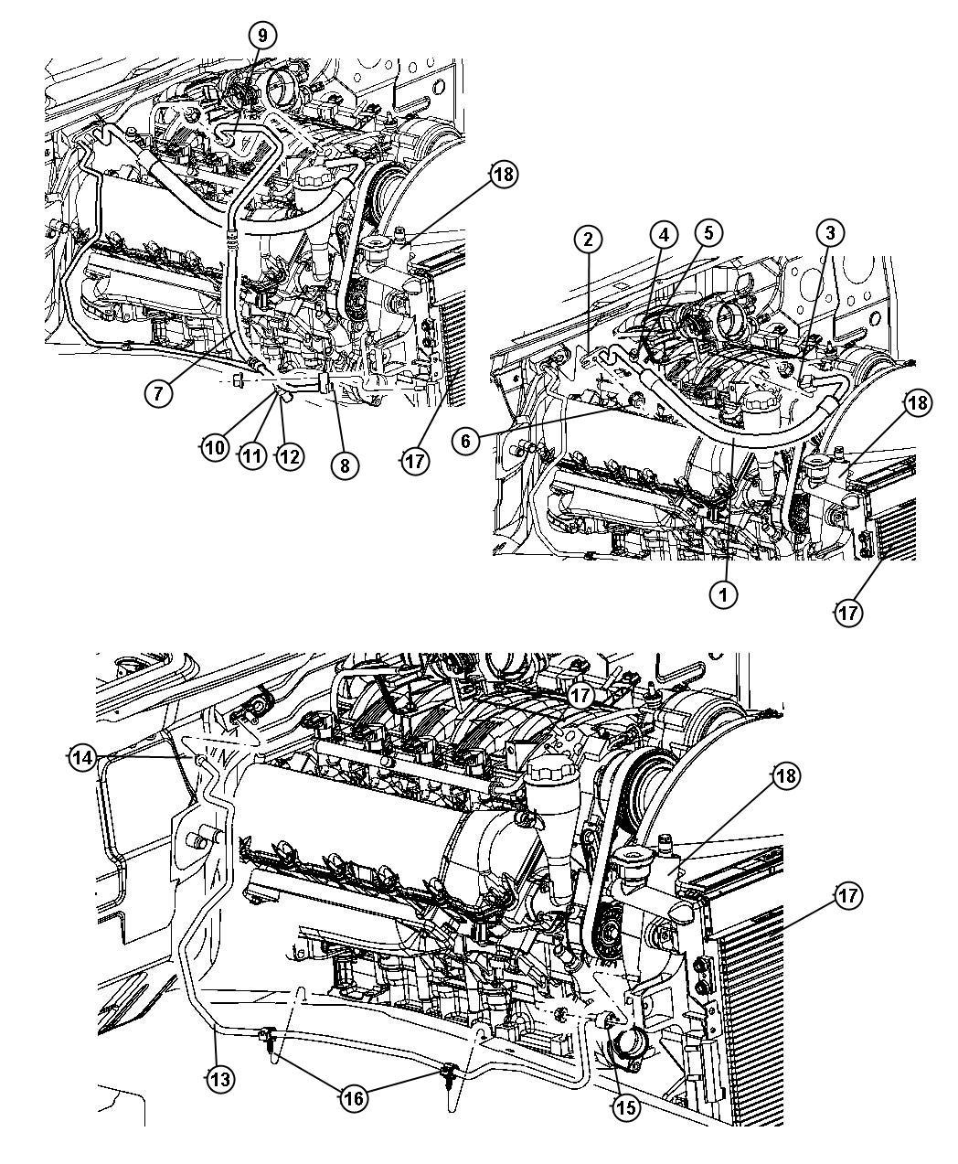 Chrysler 300 Line A C Suction Rear Heater Air
