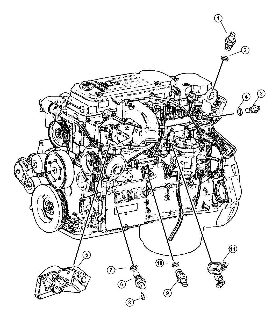 Dodge Ram Sensor Crankshaft Federal Emissions