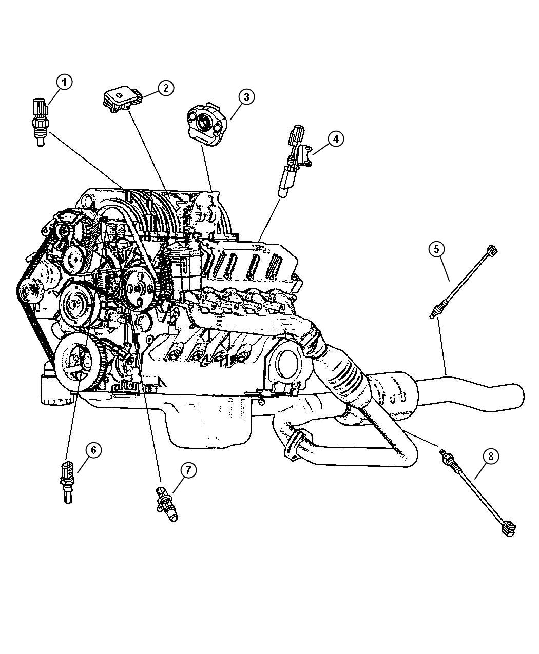 Dodge Ram Sensor Oxygen After Catalyst Rear