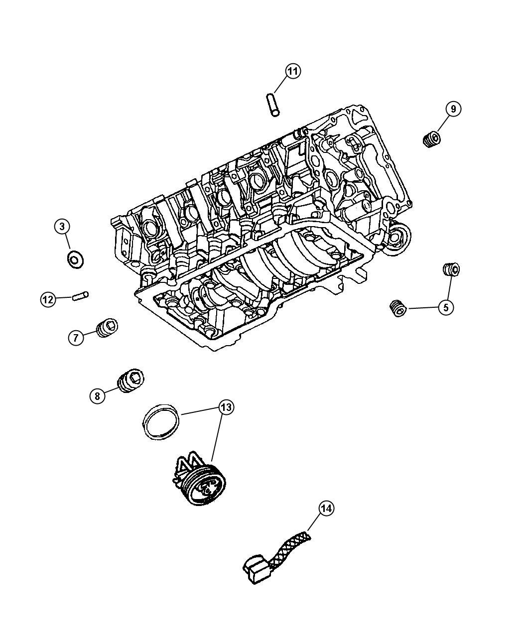 Chrysler 300 Cord Engine Block Heater For 5 7l