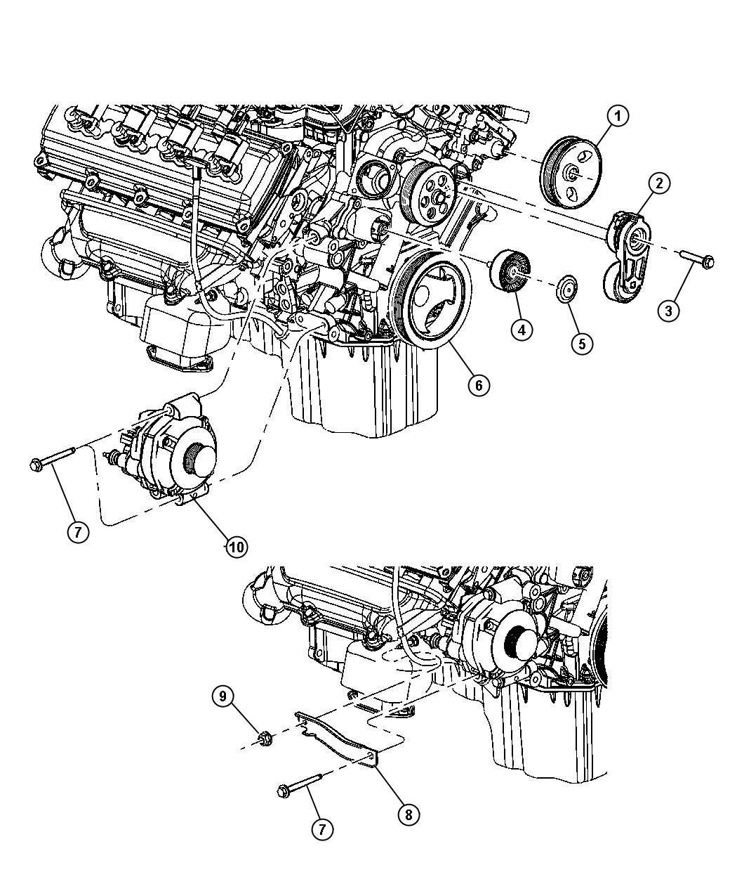 Dodge Charger Generator Engine 160 Amp Alternator