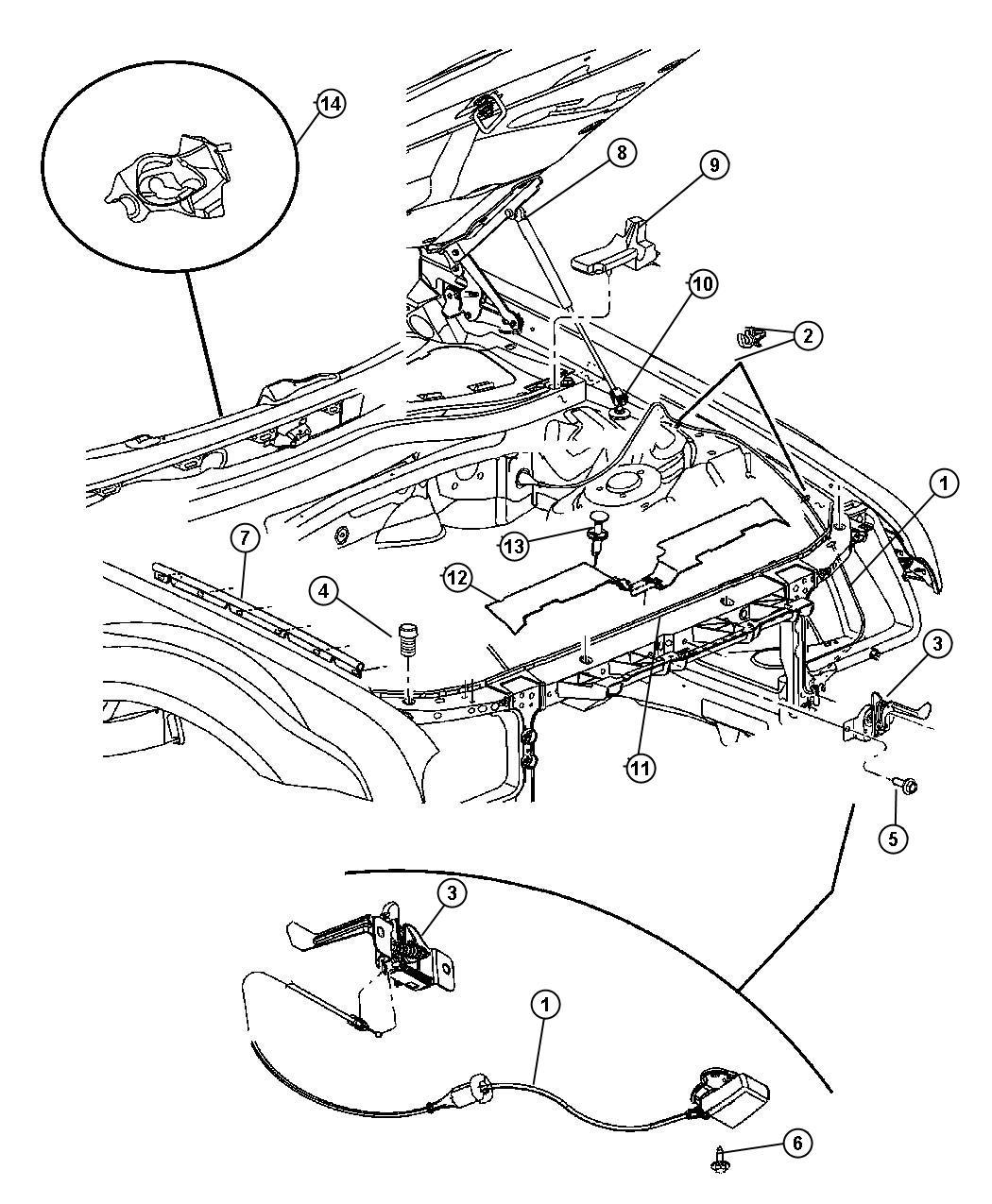 Dodge Charger Weatherstrip Fender To Hood Left