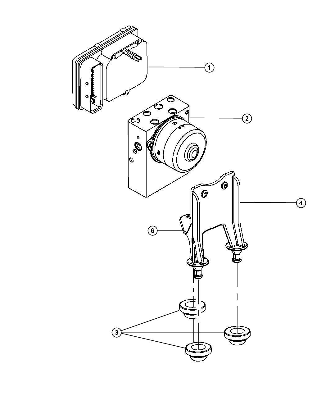 Dodge Charger Bracket Brake Control Unit Anti Lock 4