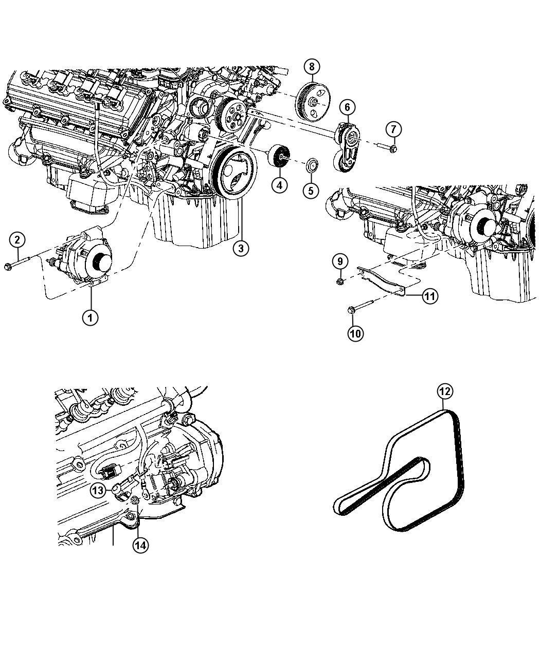 Dodge Charger Generator Engine Remanufactured 160 Amp
