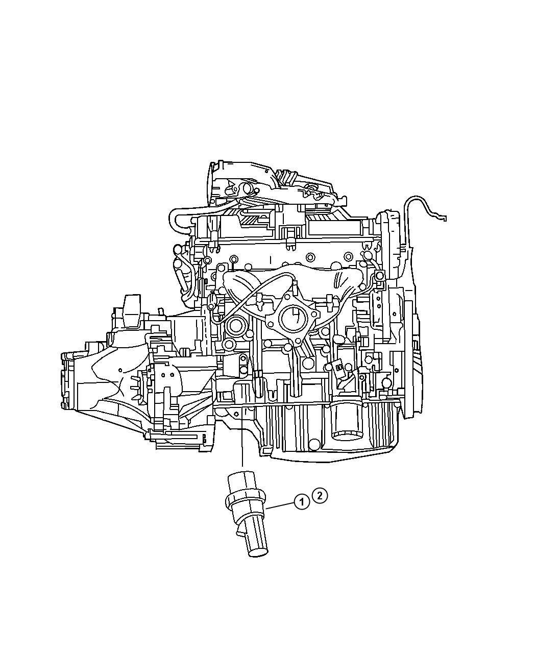 Dodge Charger Sending Unit Switch Oil Pressure Ees Egn