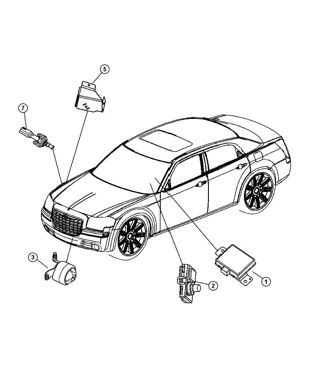 Chrysler 300 Receiver Alarm Export Trim All Trim