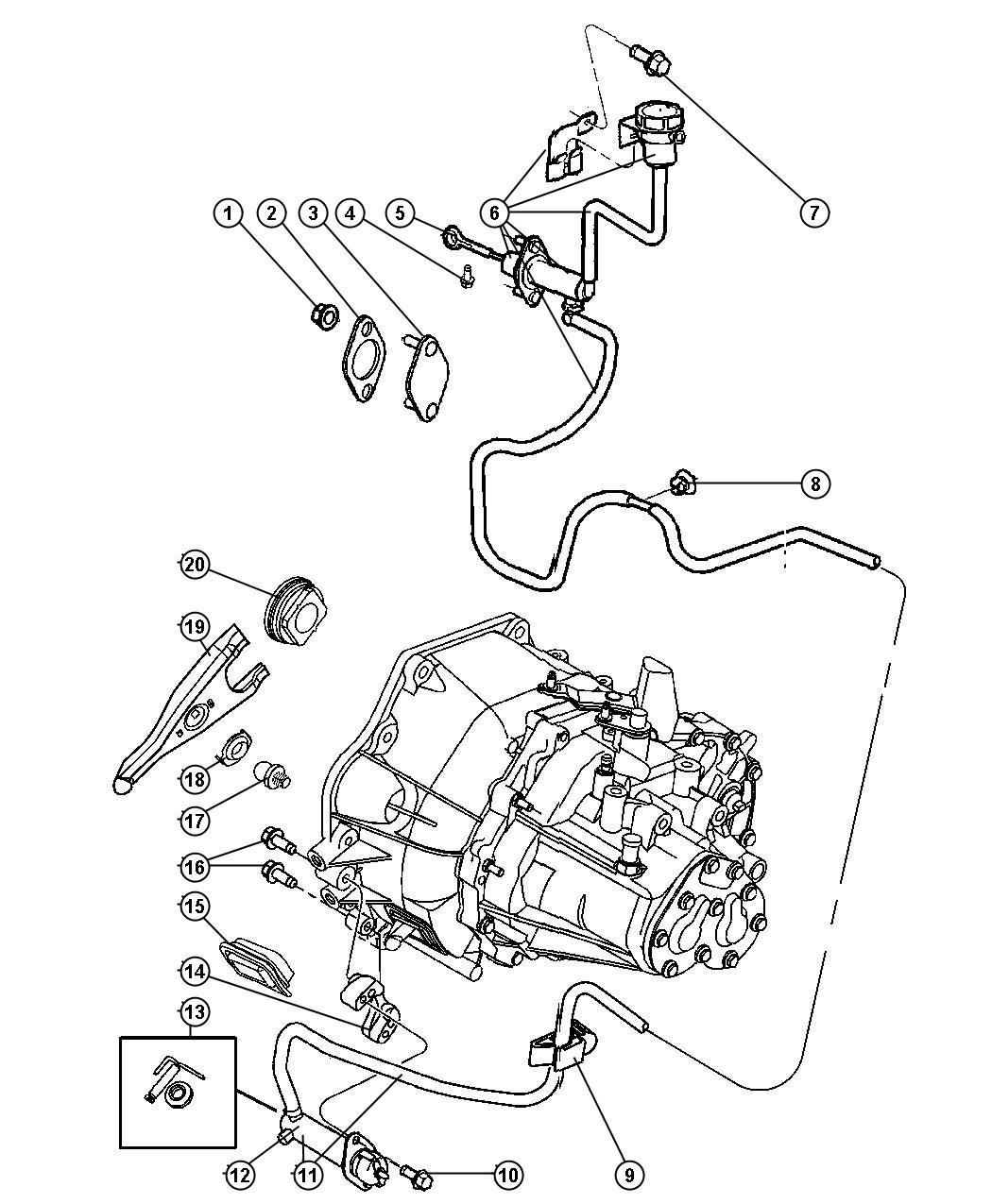 Chrysler Lhs Actuator Hydraulic Clutch