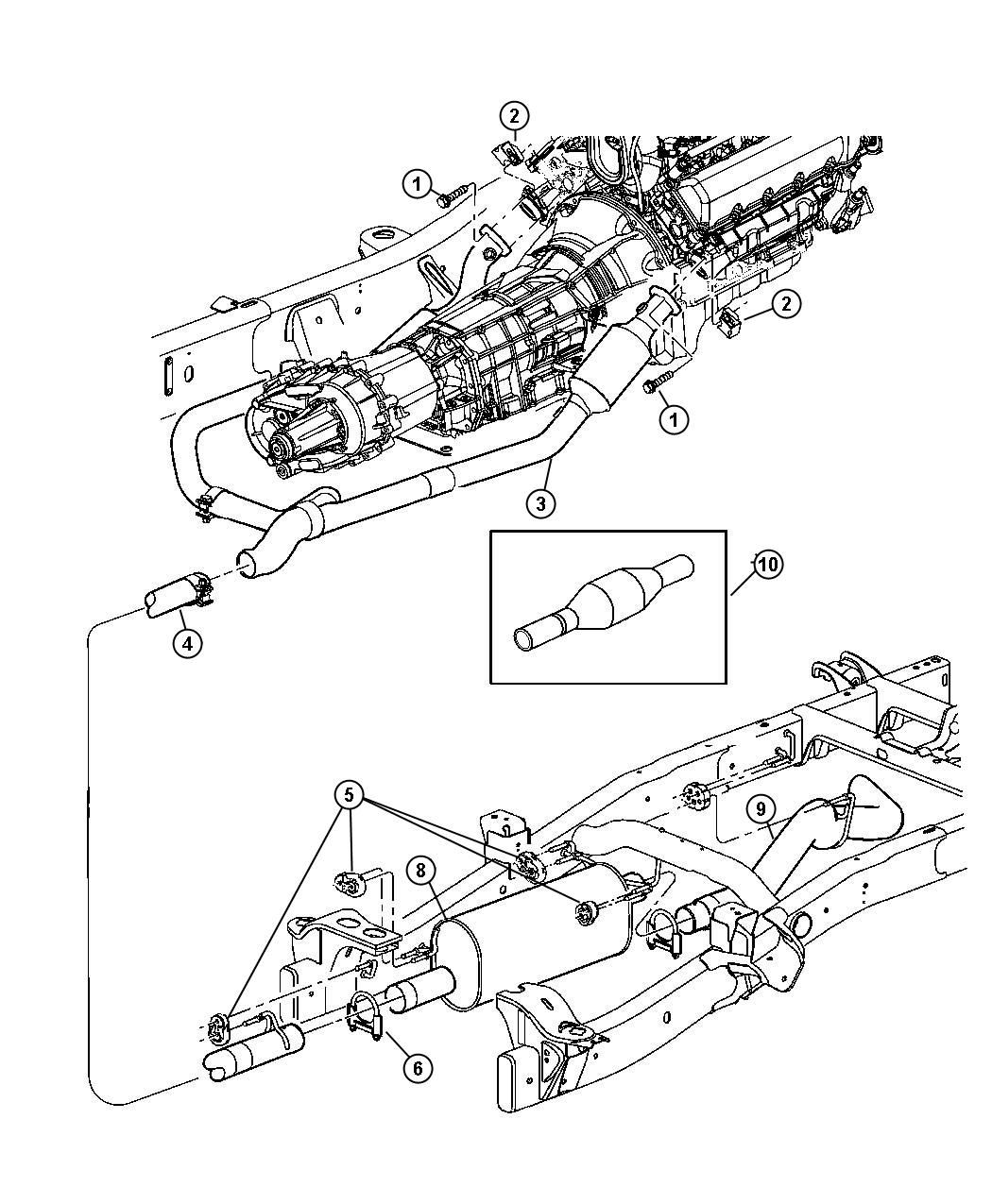 Dodge Durango Pipe Exhaust Extension