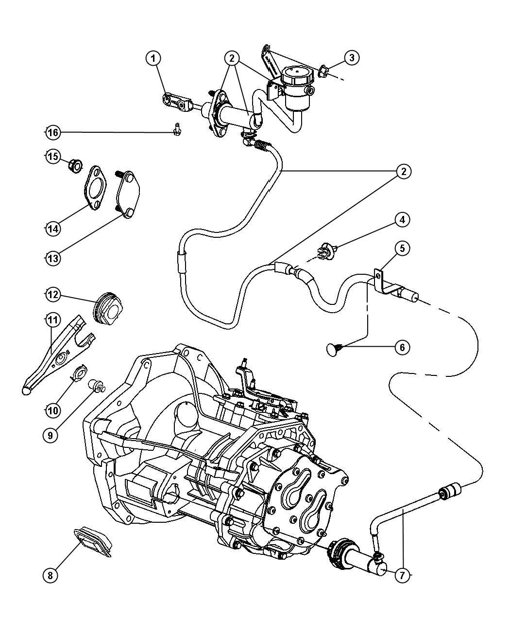 Dodge Neon Cylinder Clutch Master Transmission