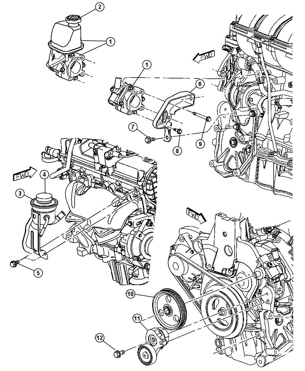Chrysler Pt Cruiser Pump Power Steering Use 11 27