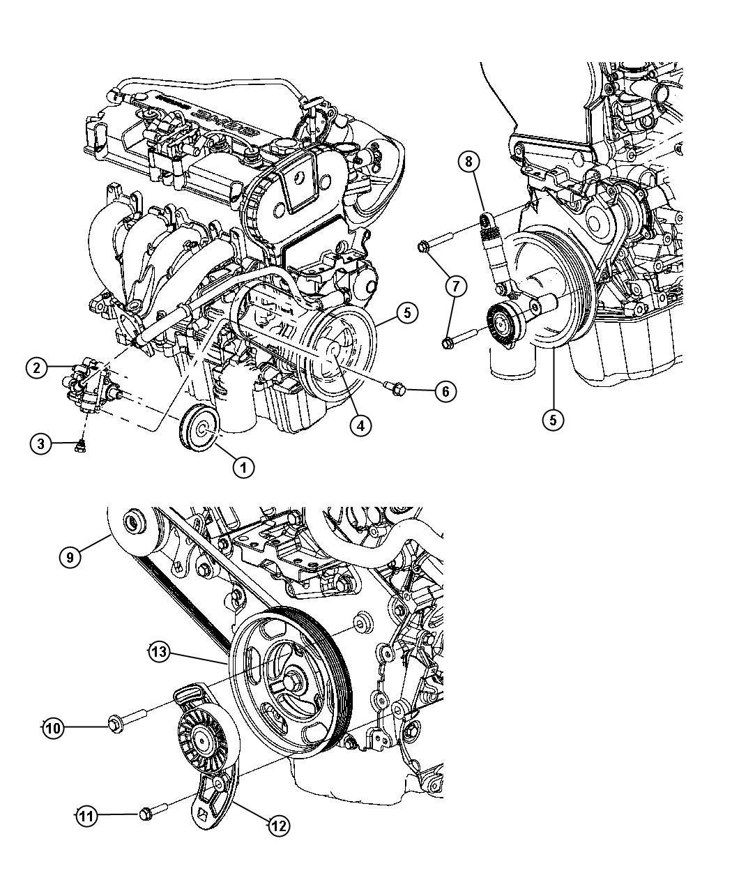Dodge Durango Damper Engine Vibration Dohc Timing