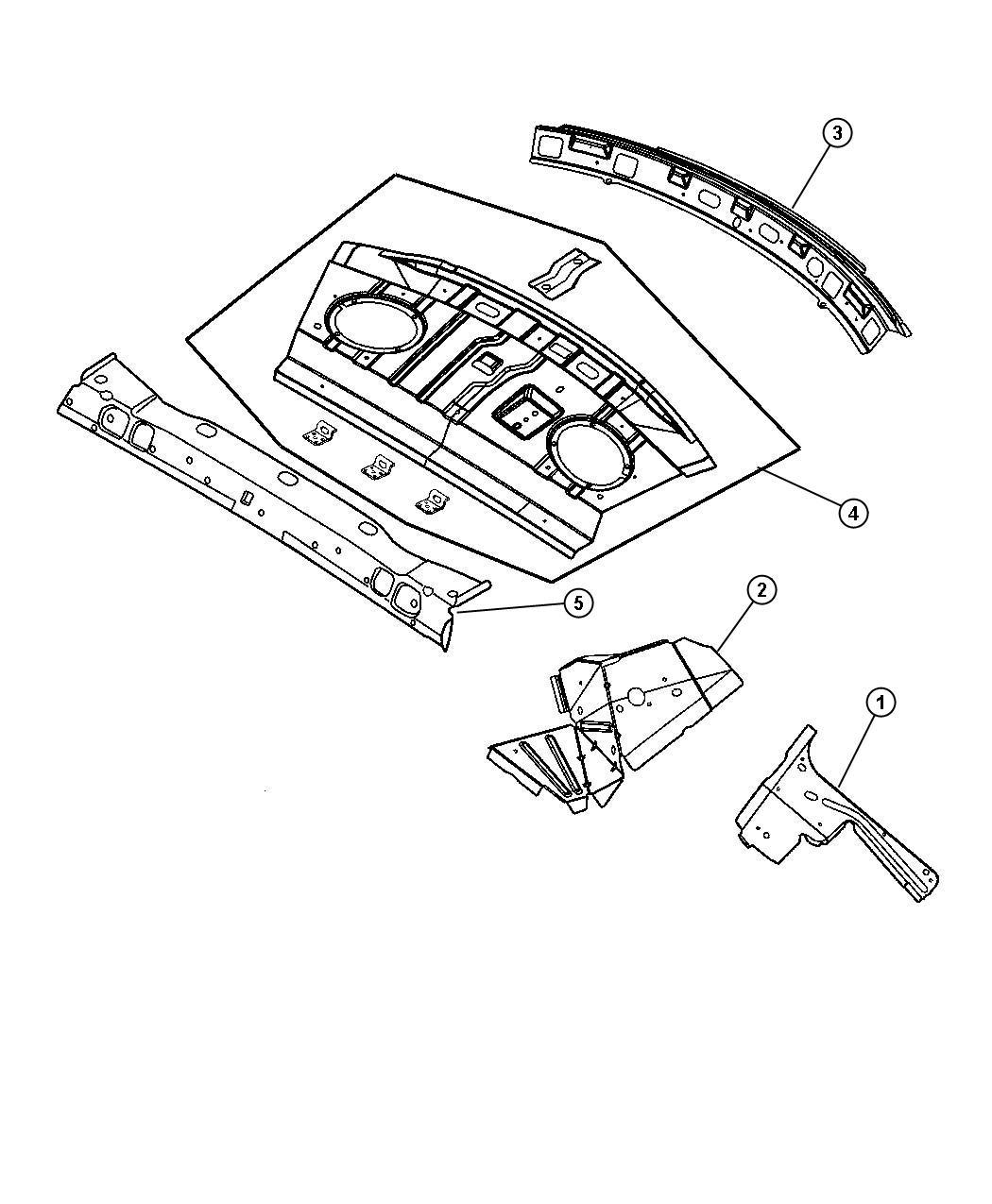Dodge Stratus Reinforcement Shelf Panel Rear