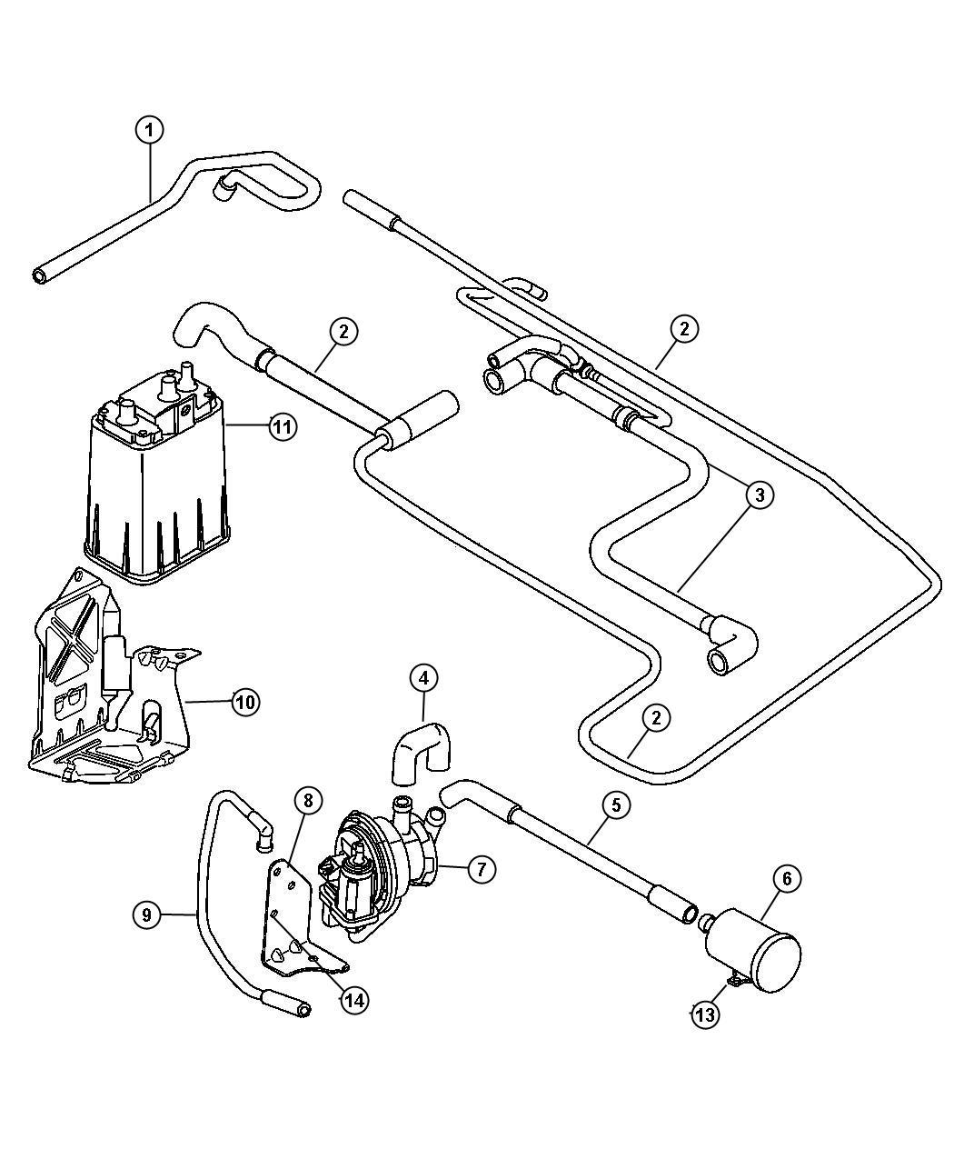 Chrysler Pt Cruiser Pump Leak Detection Emissions