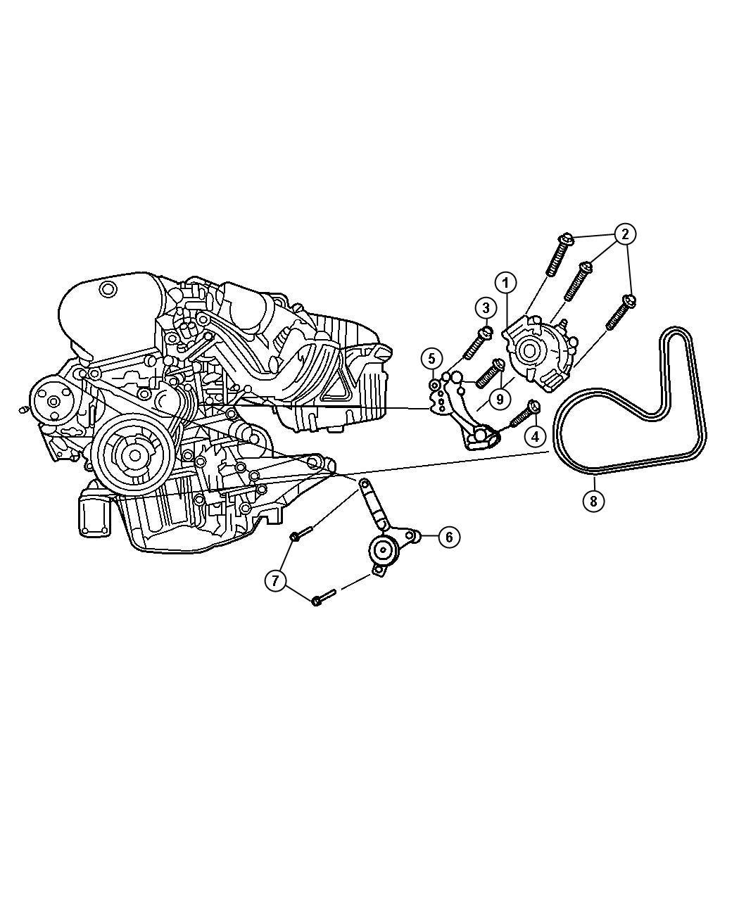Chrysler Sebring Belt Alternator Drive Used For