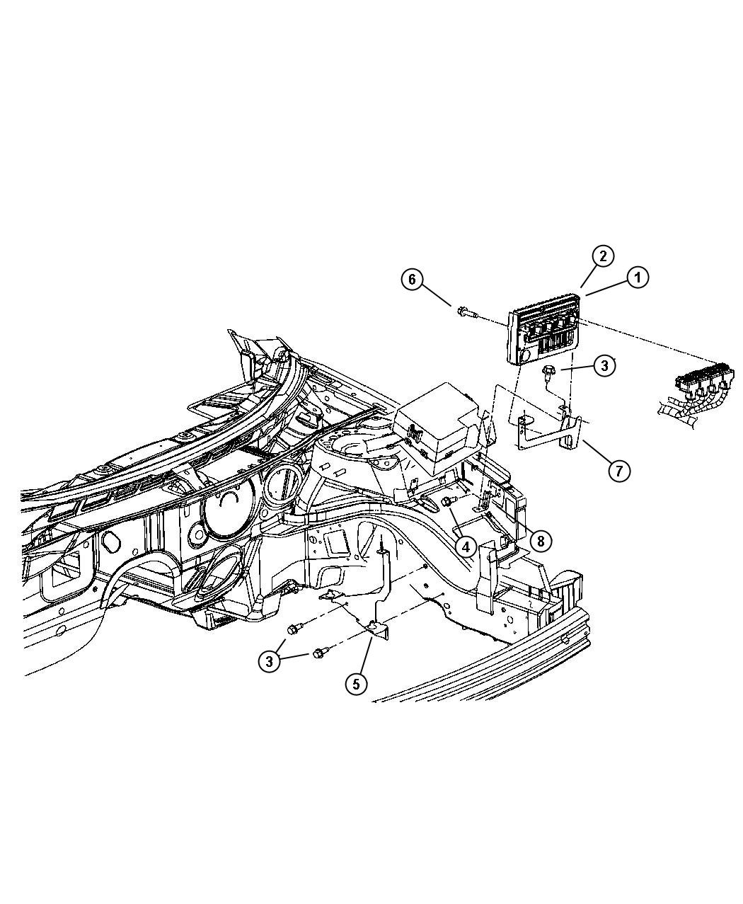 Dodge Stratus Module Powertrain Control Generic
