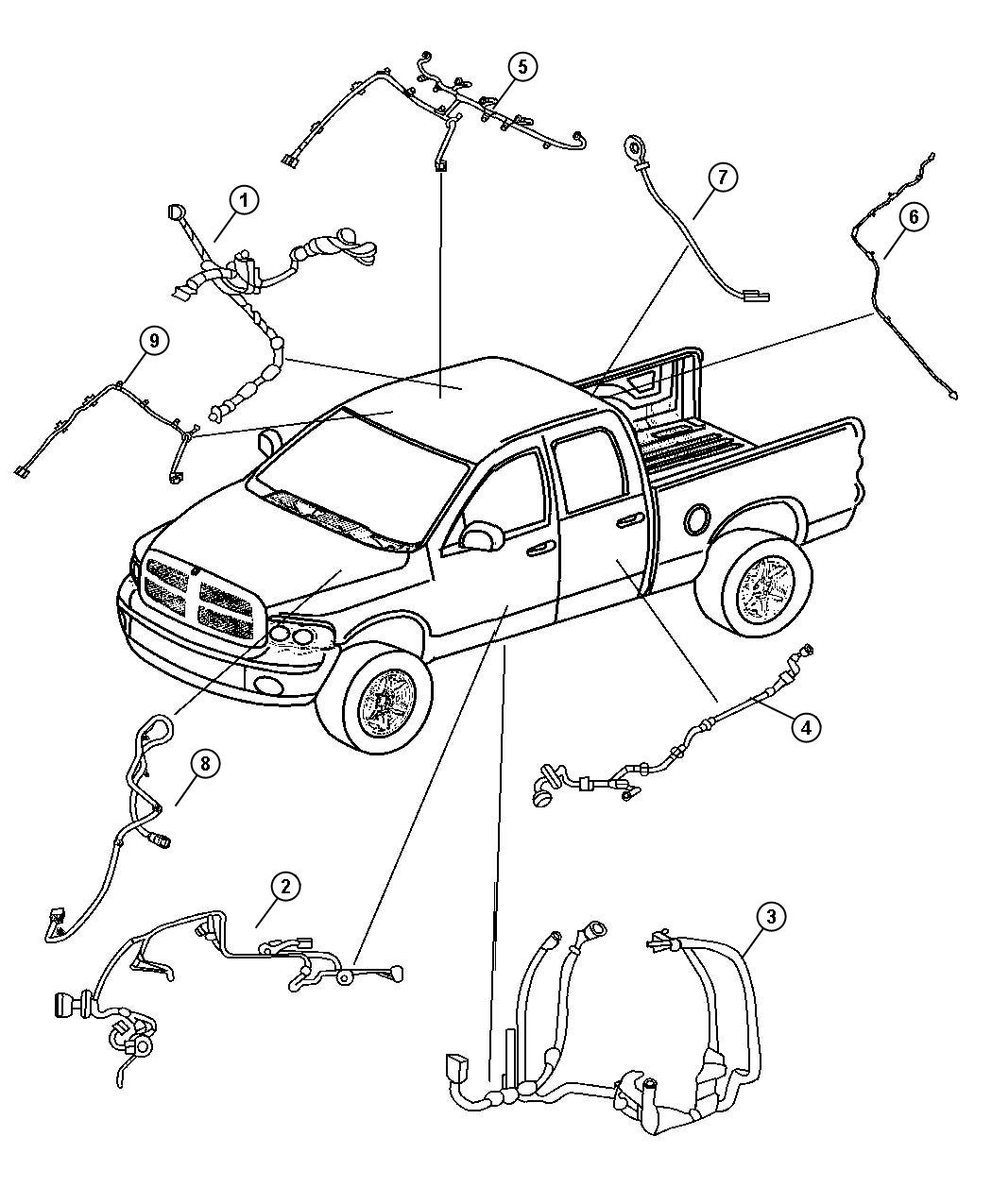 Dodge Ram Wiring Rear Door Right Or Left Power